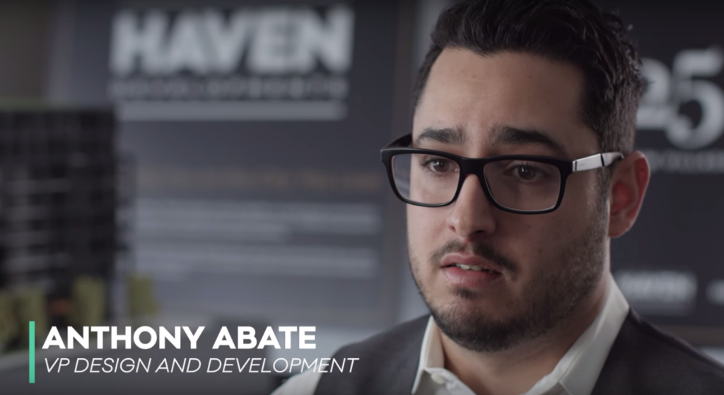 Anthony Abate explains the vision behind HAVEN Developments