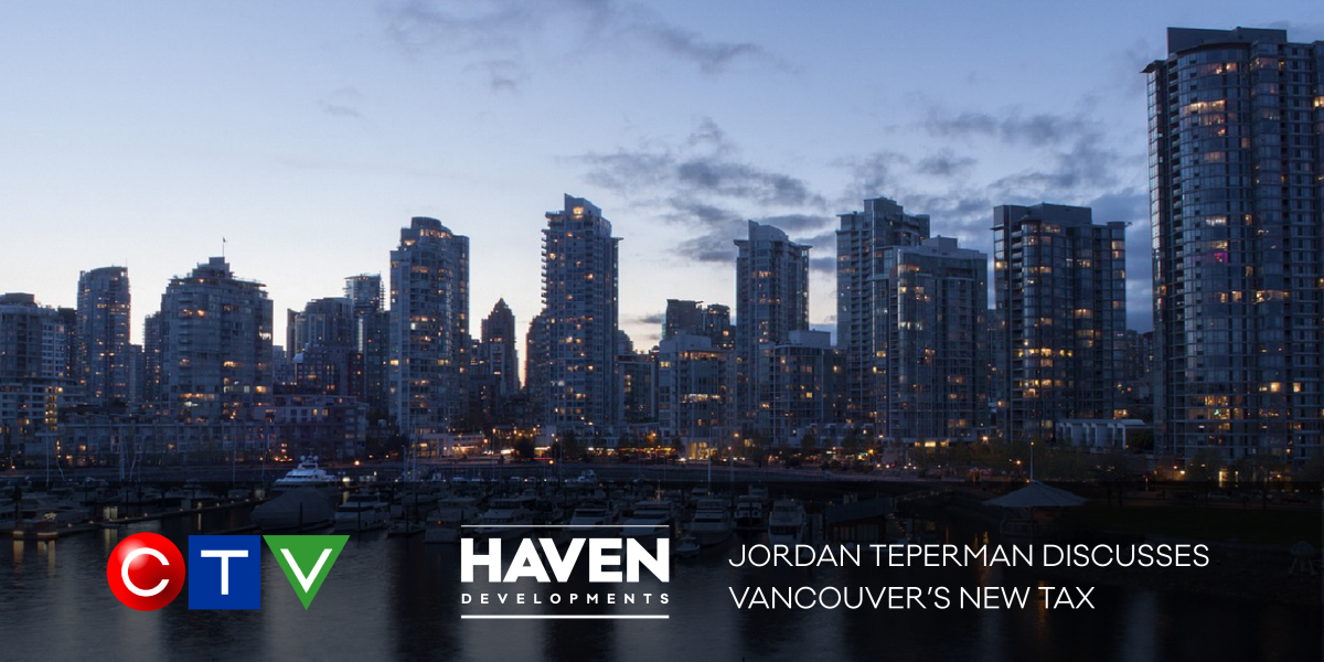 Jordan Teperman speaks on the Vancouver tax increase