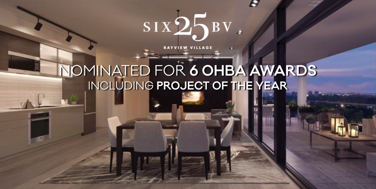 SIX25BV is nominated for 6 OHBA Awards including Project of the Year