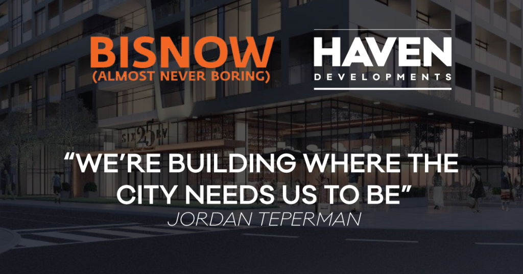 Jordan Teperman interviewed on Bisnow about connecting people to the city they love.